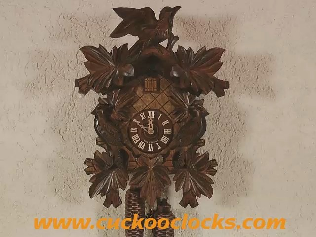 Часы с кукушкой<br>7-листьев, 3-птицы
