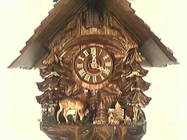 Reloj cucú<br>Grupo de corzos, equipado