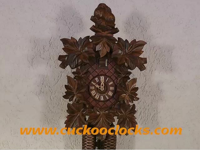 Reloj cucú<br>Una pareja de pajaritos, 8 folllajes