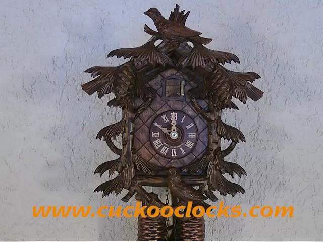 鳩時計<br>鳥3羽