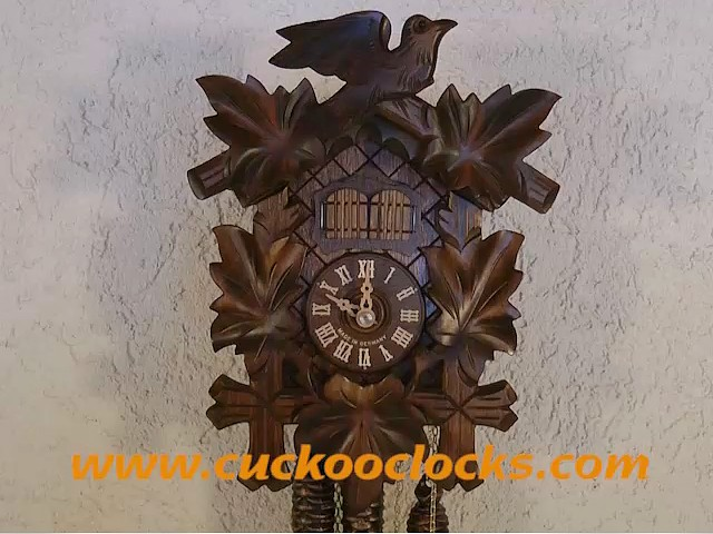 Music Clock Music Man with Zither and Cuckoo