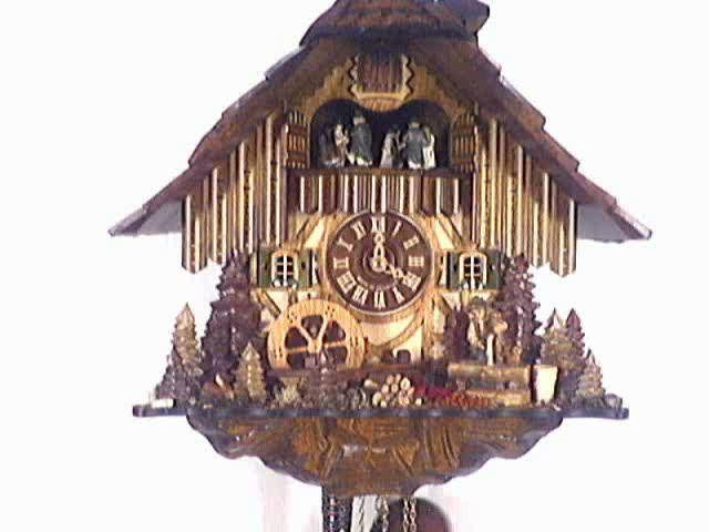 Orologio a cucù<br>Fontana, ruota del mulino
