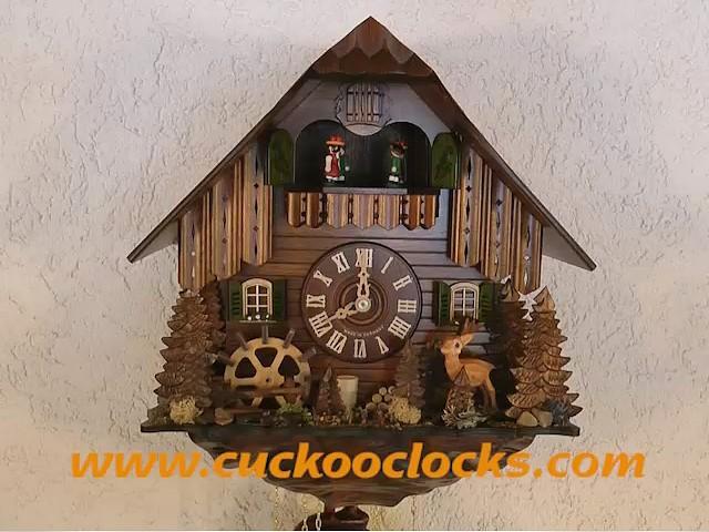 Pendule à coucou<br>Faon, roue de moulin