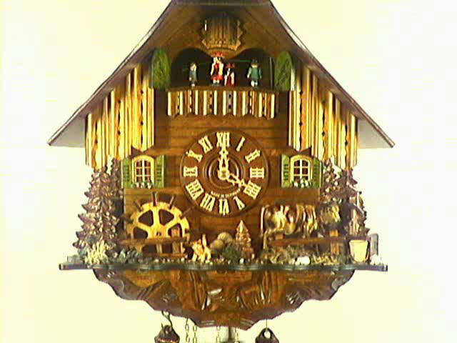 Часы с кукушкой<br>Пасущаяся Корова, мельничное колесо