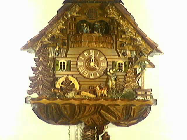 Cuckoo Clock<br>Way Cross, Hunter and Mill Wheel