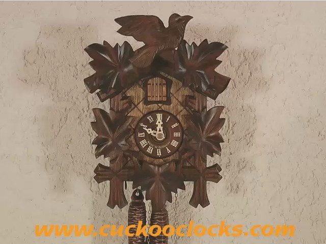 Cuckoo Clock<br>Five Leaves, Bird Gift-Boxed 8491004