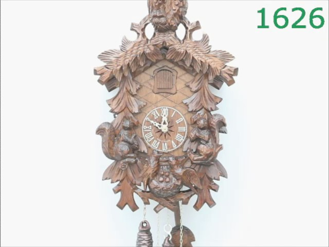 Reloj cucú<br>Lechuzas, ardillas, nido