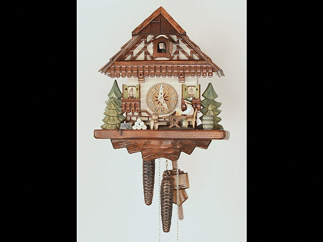 Cuckoo Clock<br>Black Forest house with moving beer drinker KA 1628 EX