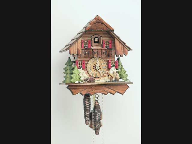 Cuckoo Clock<br>Black Forest house with moving wood chopper KA 1633 EX