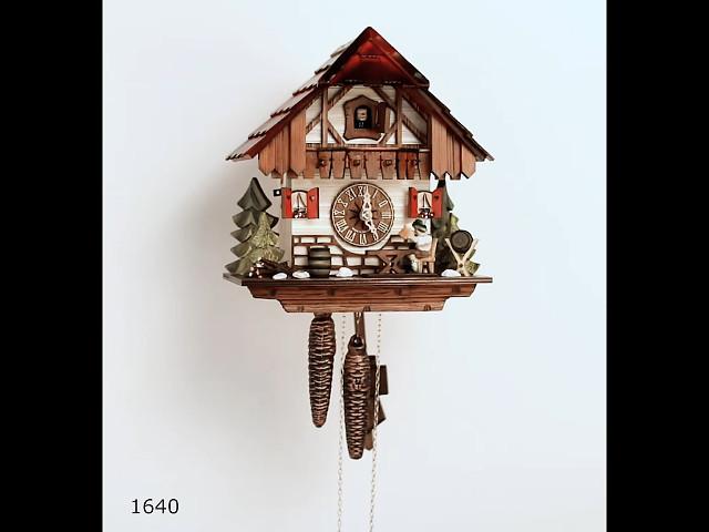 Pendule à coucou<br>Maison de la Forêt-Noire avec buveur de bière mobile