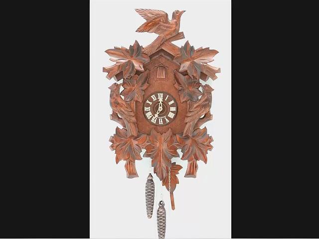Reloj cucú<br>7 follajes, 3 pájaros
