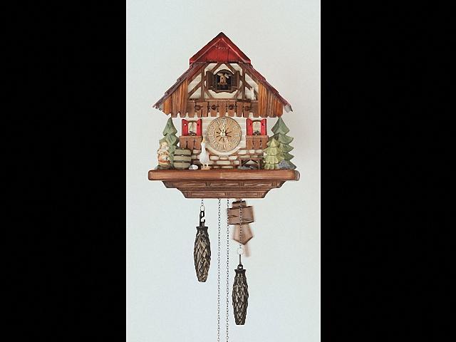 Quartz Cuckoo Clock<br>Black forest house KA 2640 QK