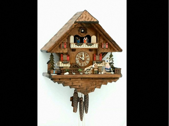 Cuckoo Clock<br> with Couple and turning mill-wheel