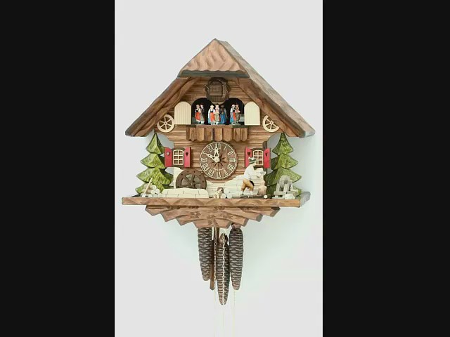 Cuckoo Clock<br>Black forest house, turning mill-wheel KA 3709 EX