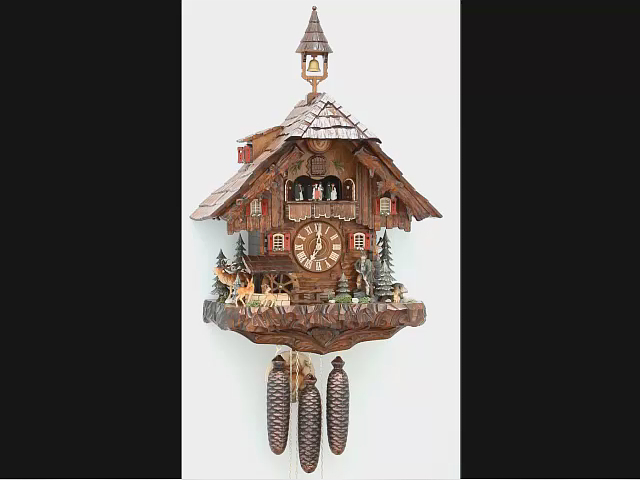 Cuckoo Clock<br>Hunter's House, turning mill-wheel