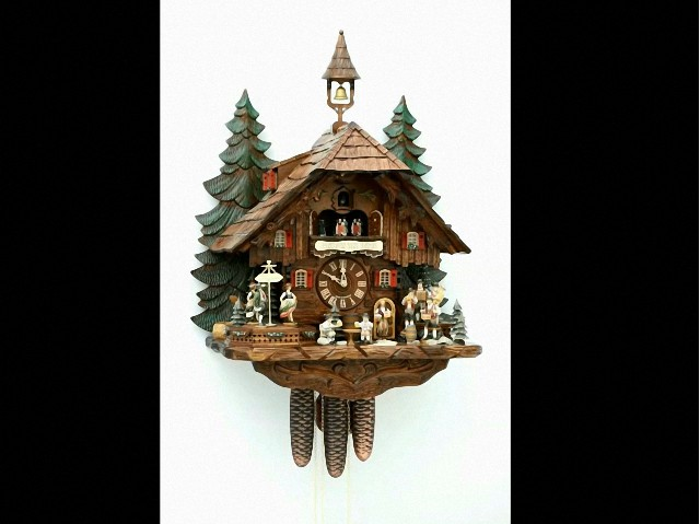 Cuckoo Clock<br> with moving dancers, musicians and beer drinkers