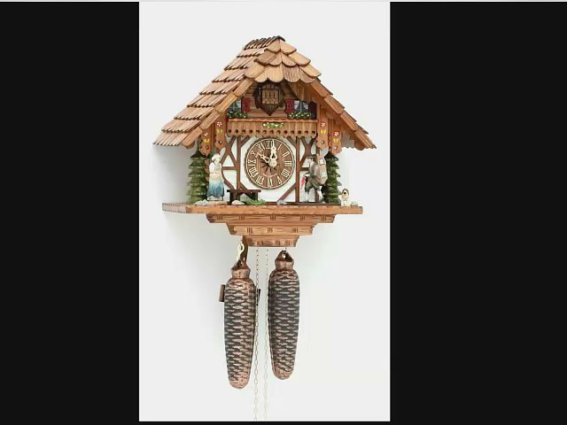 Cuckoo Clock<br>Little black forest house with mooving clock peddler