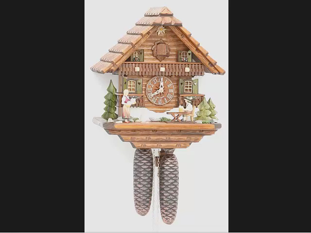Cuckoo Clock<br>Black Forest house with moving beer drinker KA 875 EX