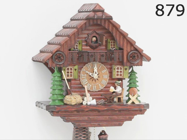 Cuckoo Clock<br>Black Forest house with moving beer drinker KA 879