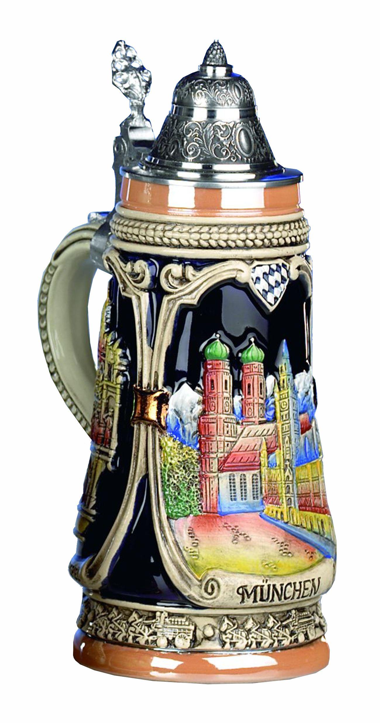 German Beer Stein Munich Stein 0.5 liter