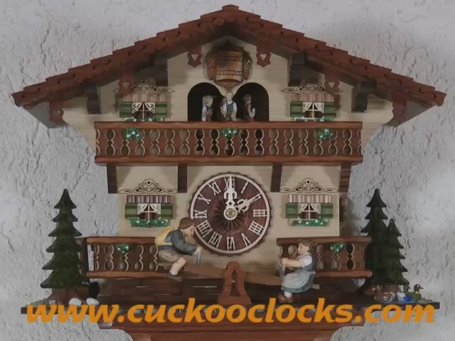 Cuckoo Clock<br>Chalet with moving children on a see-saw