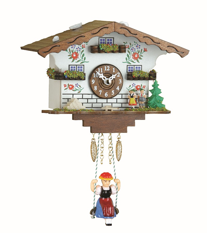 Kuckulino Black Forest Clock House with Quartz Movement and Cuckoo Chime Incl.