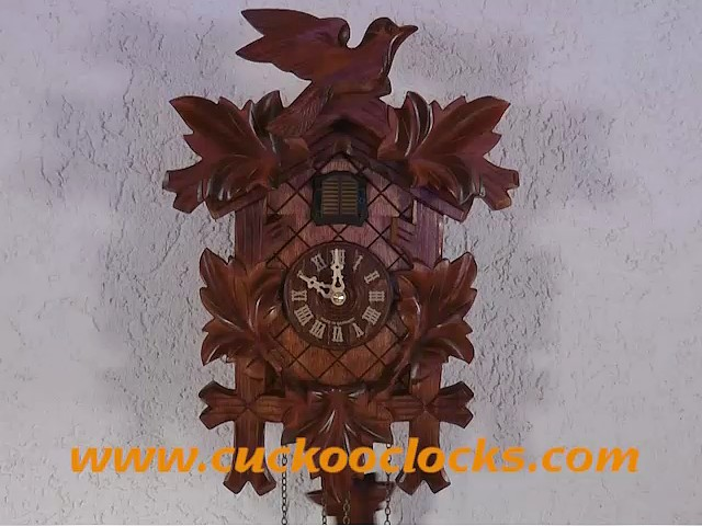 Quartz Cuckoo Clock<br>5-leaves, bird TU 350 Q
