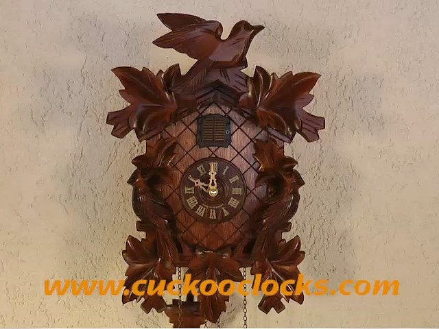 Quartz Cuckoo Clock<br>5-leaves, bird TU 351 Q