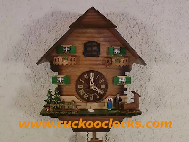Quartz Cuckoo Clock<br>Black forest house TU 401 Q