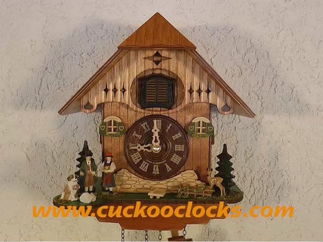 Reloj cucú de cuarzo<br>Casa de la selva negra, pareja TU 427 Q