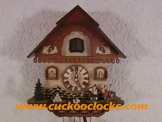 Quartz Cuckoo Clock<br>Black forest house TU 453 Q HZZG