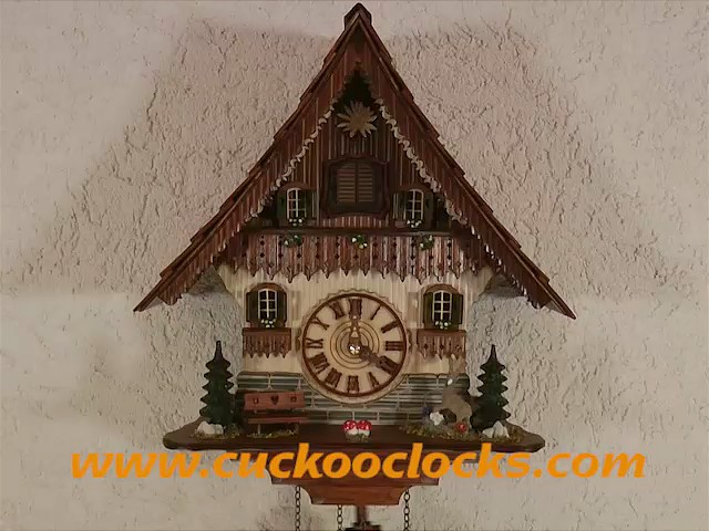 Quartz Cuckoo Clock<br>Black forest house with music TU 454 QM HZZG