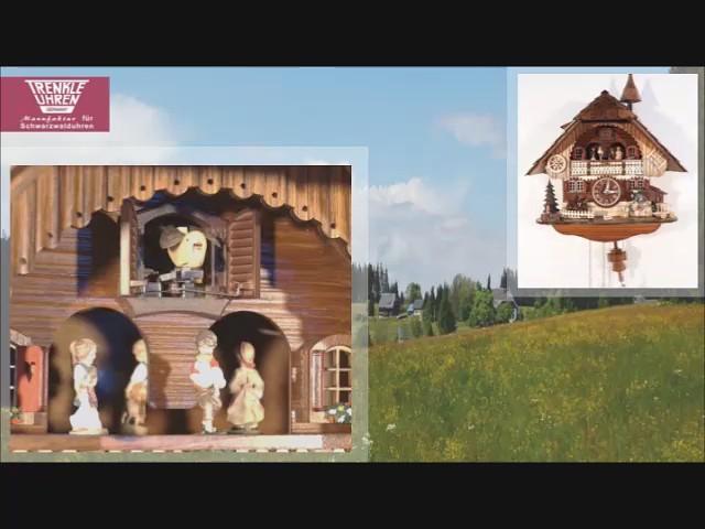 Кварцевые часы с кукушкой<br>Шварцвальдский дом с музыкой, кружащиеся танцоры, батарейки входят в комплект